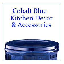 Cobalt Blue Kitchen Accessories And Decor Items Such As Crock Pots Utensils Blenders