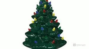 Atlantic Mold Ceramic Christmas Tree Lights by Ceramic Christmas Trees Vintage White U0026 Green For 2017 Youtube
