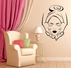 Girls Beauty Salon Wall Decal Face Massage Interior Fashion Design Sticker Vinyl Removable Hairdresser DIY