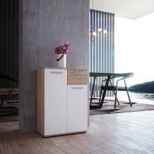 newroom kommode esra sideboard sonoma eiche weiß modern anrichte highboard wohnzimmer schlafzimmer flur esszimmer kaufen otto
