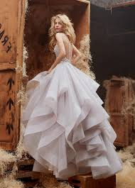 gorgeous a line long tulle prom dress wedding dress with open back