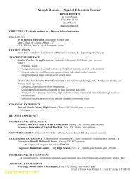 Unique High School Resume Builder New How List Education Physical Teacher