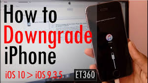 How to Downgrade iPhone from iOS 10 to iOS 9 3 5