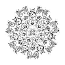 Contoured Luxury Flowers In Mandala Shape Zen Style Picture For Anti Stress Colouring Book Hand Drawn Doodle Vector The Best Your Design
