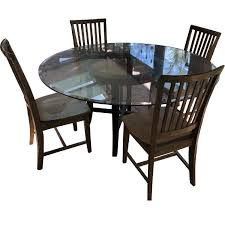 Pottery Barn Round Glass Dining Table W/ 4 Chairs - AptDeco 4 Chair Kitchen Table Set Ding Room Cheap And Ikayaa Us Stock 5pcs Metal Dning Tables Sets Buy Amazoncom Colibrox5 Piece Glass And Chairs Caprice Walkers Fniture 5 Julia At Gardnerwhite Pc Setding Wood Brown Ikayaa Modern 5pcs Frame Padded Counter Height Ding Set Table Chairs Right On Time Design 4family Elegant Tall For Sensational
