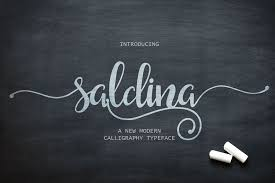 Saldina Free Font Free Design Resources