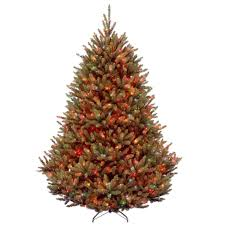 Home Depot Ge Pre Lit Christmas Trees by 7 5 Ft Multiple Colors Pre Lit Christmas Trees Artificial