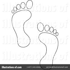 Royalty Free RF Footprints Clipart Illustration 218325 By Pams