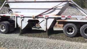 100 Belly Dump Truck Spreading Gravel With Trailer YouTube