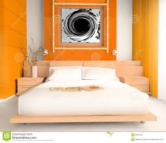 orange schlafzimmer stockbild bild fenster schlaf