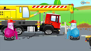 100 Cement Truck Video Cartoon Full Episodes With The Mixer 1 Hour Kids