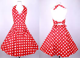 50s polka dot halterneck swing dress 81802 81802 24 99