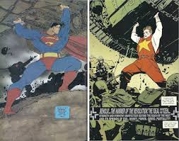 Superman And The Soviet Super Man I Dont Know His Name Yet So Lets Just Call Him Stand In Matching Poses Are Positioned At Same