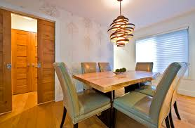 funky light fixtures dining room contemporary with green dining