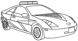 Car Coloring Pages Printable For Free Police Get This