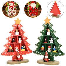 DIY Wooden Christmas Ornament Xmas Snowman Tree Desk Festival Party