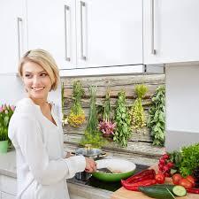 80x40cm bild motiv küchenkräuter küchenrückwand