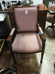 Italian Mahogany Arm Chair salmon AS IS