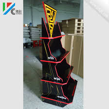 4 Layers Recycled Cardboard Display Racks Corrugated For Retail Stores