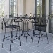 Bar Height Bistro Patio Set by Wrought Iron Bar Height Table Hollywood Thing