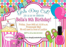 DIY Girls Day Out Party Invite Spa Nail Movies For All Occasions