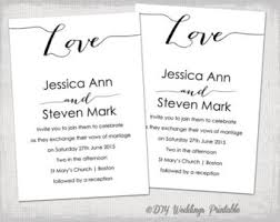 Wedding Invitation Template Bombshell Love Invitations DIY Printable Calligraphy Invites YOU EDIT Word