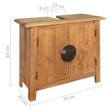 vidaxl badezimmer unterschrank recyceltes massivholz 70x32x63 cm