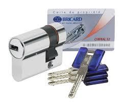 barillet securite porte entree demi cylindre de porte haute sécurité 30 x 10 mm 3 clés et carte