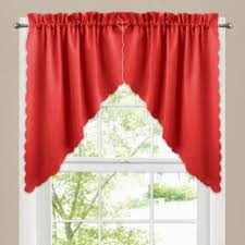 Bed Bath And Beyond Curtains And Valances by Victoria Window Curtain Swag Valance Pair In Red