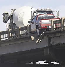 100 Stevens Truck Driving School Pickup Goes Partially Off Overpass In Accident Driver Cited For DUI