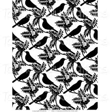 background of black birds and leaves on white black and white 78aleb clipart
