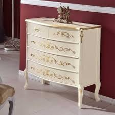 edle barock kommode miz 87 cm breite in weiß gold