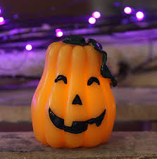 Halloween Flameless Taper Candles by Flameless Halloween Candle Carved Pumpkin Buy Now