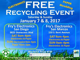 free electronics recycling and paper shredding at fry s