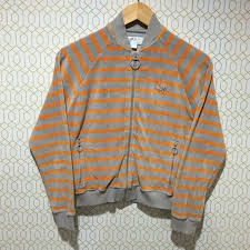 vintage fred perry jacket made in portugal unisex stripes