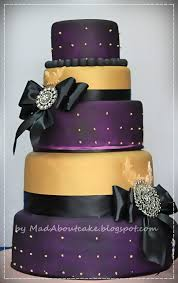 Deep Purple And Gold Wedding Cake Be BOLD