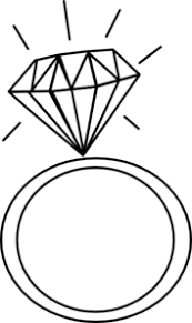 Clip Art Engagement Ring Clipart engagement ring clipart black and white clipartall wedding black