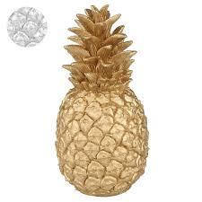 deko skulptur ananas silber tedi ansehen