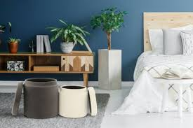 hocker samt pouf stauraum rund modern wohnzimmer deko grau creme