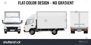 Vector Small Truck Front View Back Stock Vector (Royalty Free ...