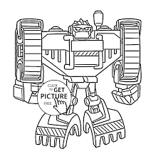 Bot Coloring Pages For Kids Printable Free Rescue Bots At