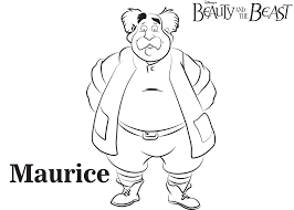 Disneys Beauty And The Beast Maurice Coloring Page