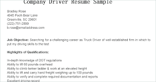 Truck Driver Resume Example Sample Doc Lorry Template Delivery Cv No Experience