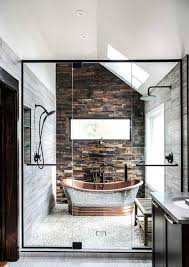Bathroom: Modern Bathroom With Brick And Glass Walls - 19 Masculine ... Modern Bathroom Design Ideas With Walk In Shower Ideas 26 Doable Victorian Plumbing Contemporary Bathrooms Pinterest Creative Decoration Condominium Design Photos Malaysia Atapco 37 Amazing Midcentury Modern Bathrooms To Soak Your Nses Tiles Elle Decor 25 Best 30 Luxury Homelovr Apollo Btw Curved Bath With White Brick Wall 19 Masculine Master