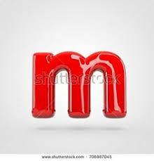 Red devil letter D uppercase with black horns 3D rendering