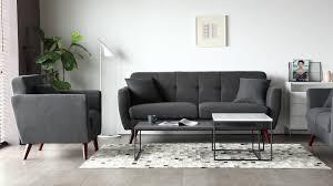 100 Modern Living Room Couches Scandinavian Design Loveseat Fabric 2 Seater Sofa
