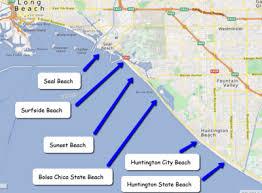 Huntington Beach Map Of Beaches