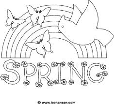 Rainbow Coloring Page Spring Printable