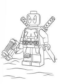 Lego Deadpool Coloring Page From Super Heroes Category Select 25970 Printable Crafts Of