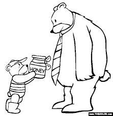 Bear Dad Coloring Page